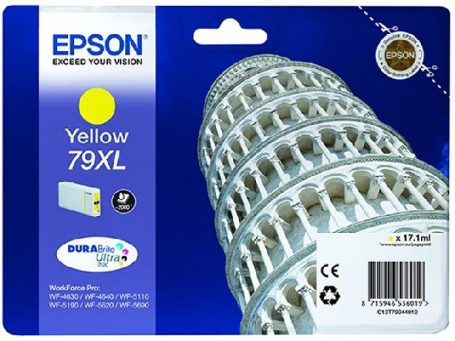 Фото - Картридж повышенной емкости с желтыми чернилами Epson T7904 для WF-5110DW, WF-5620DWF (C13T79044010) картридж с желтыми чернилами epson t0824 c13t11244a10