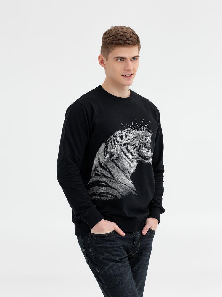 Свитшот мужской Like a Tiger, черный, размер S