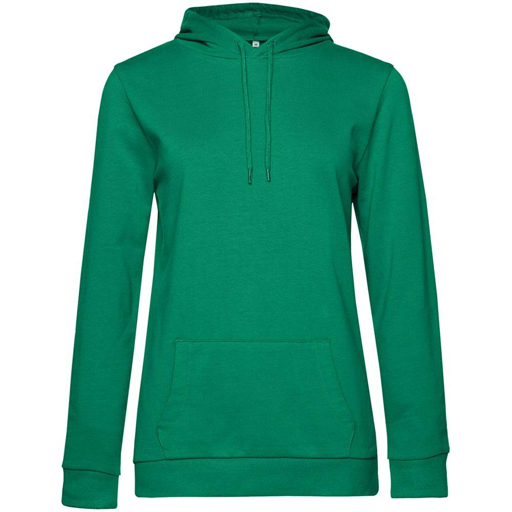 Толстовка с капюшоном женская Hoodie, зеленая, размер XS
