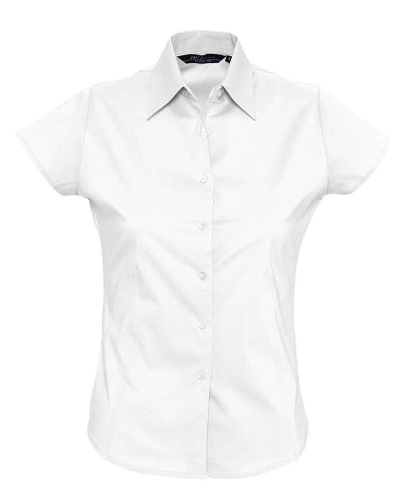 Рубашка женская с коротким рукавом EXCESS белая, размер S блуза с коротким рукавом seventy блузы с коротким рукавом