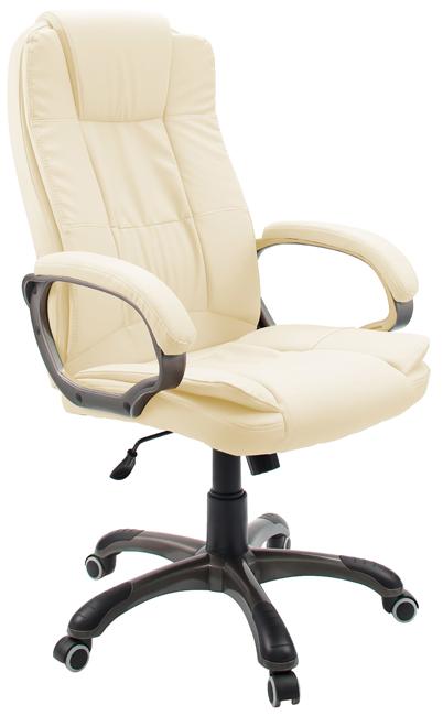 Кресло руководителя Гелеос Барон, кремовое