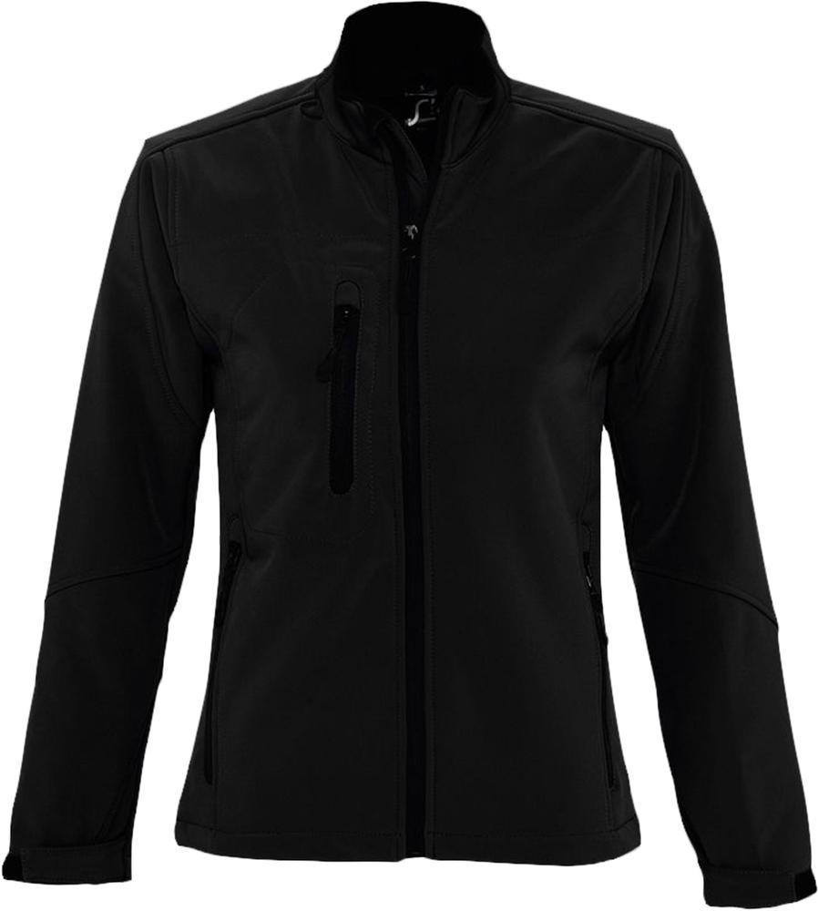 Куртка женская на молнии ROXY 340 черная, размер XXL