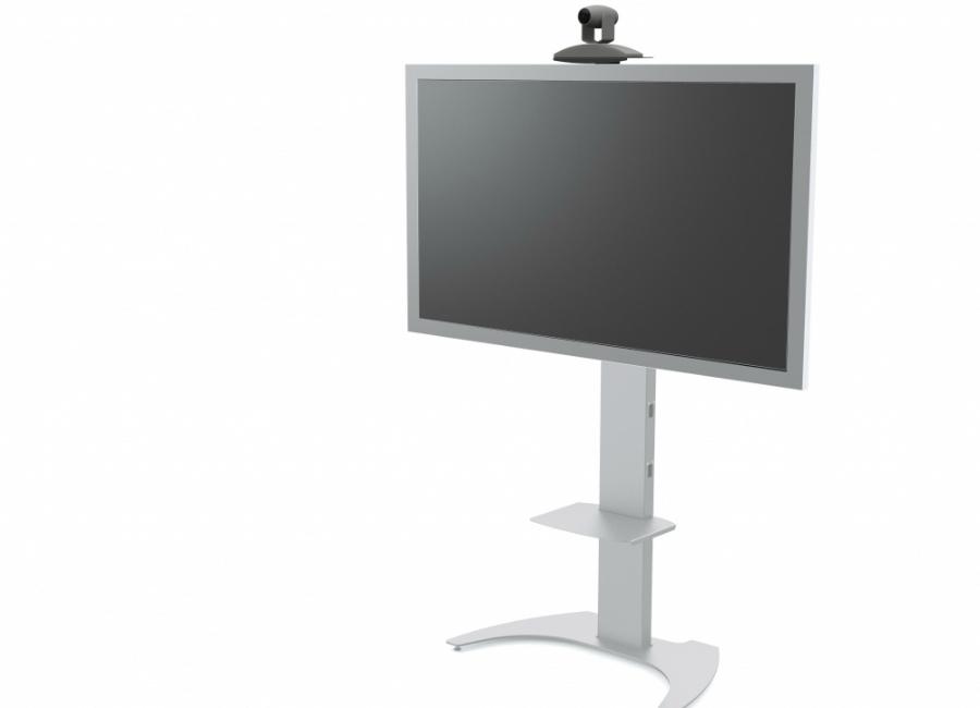 Мобильная стойка для панелей и телевизоров M65 (silver) универсальная мобильная стойка ums 4 для интерактивных досок с крепежом для укф проекторов