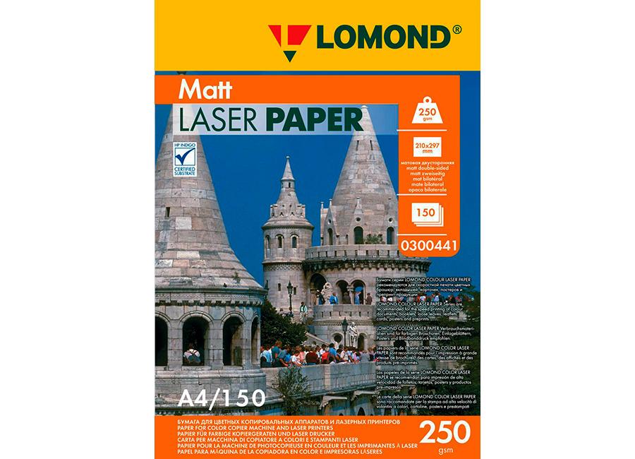 Фото - Lomond Matt DS Color Laser Paper матовая А4, 250 г/м2, 150 листов (0300441) бумага iq color а4 color 120 г м2 250 лист кораллово красный co44 1 шт