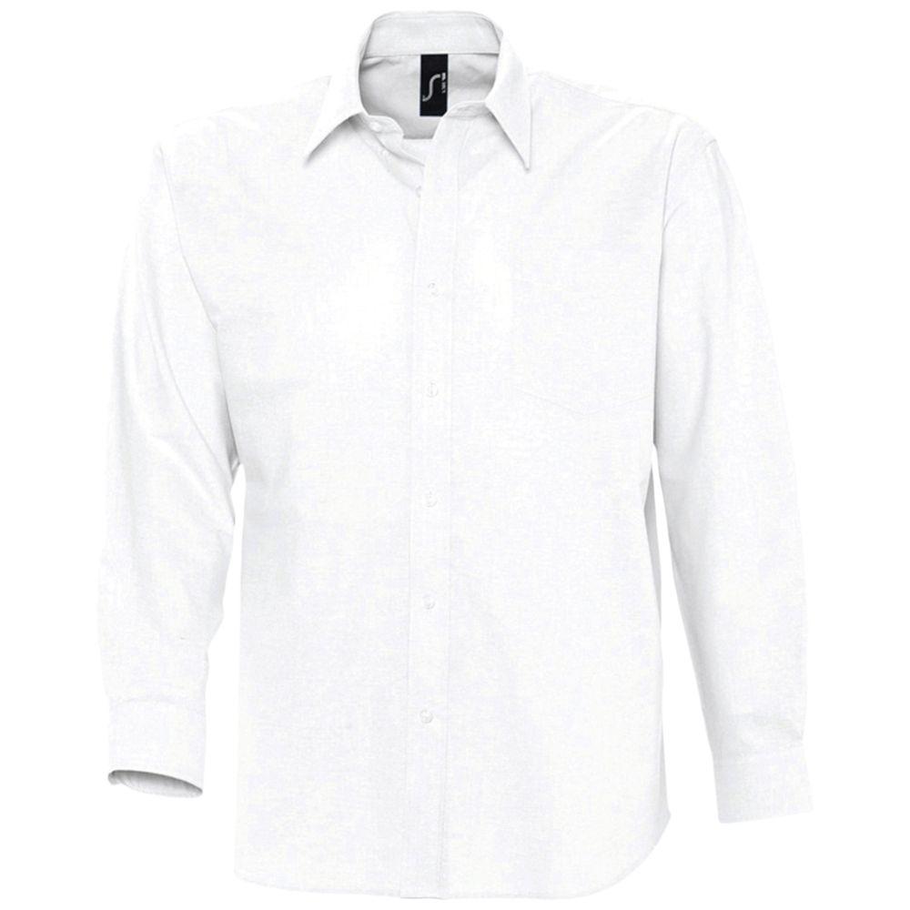 Рубашка мужская с длинным рукавом BOSTON белая, размер XXL
