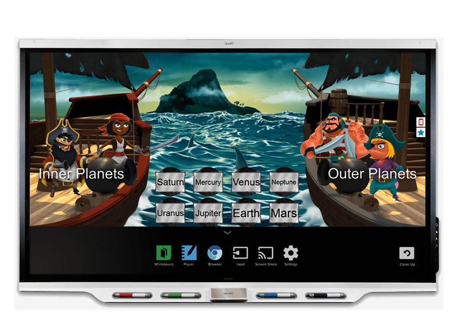 SBID-7275 interactive display (в составе интерактивной панели SPNL-7075 и встраиваемого компьютера AM40) с технологией iQ ключом активации Learning Suite