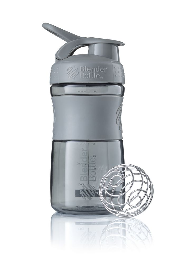 Спортивный шейкер SportMixer, серый графит фото