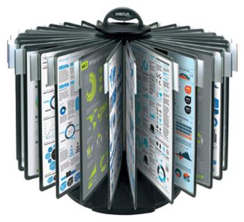 Фото - Настольная система Office «Карусель» (A4, черная) настольная