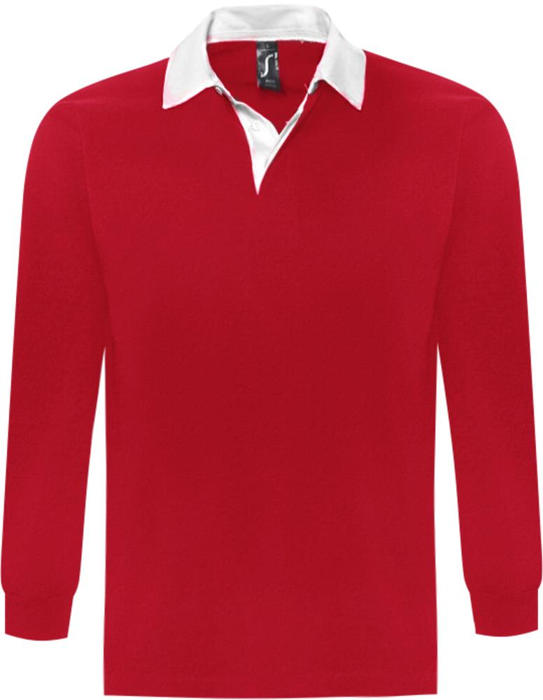 Рубашка поло мужская с длинным рукавом PACK 280 красная, размер M
