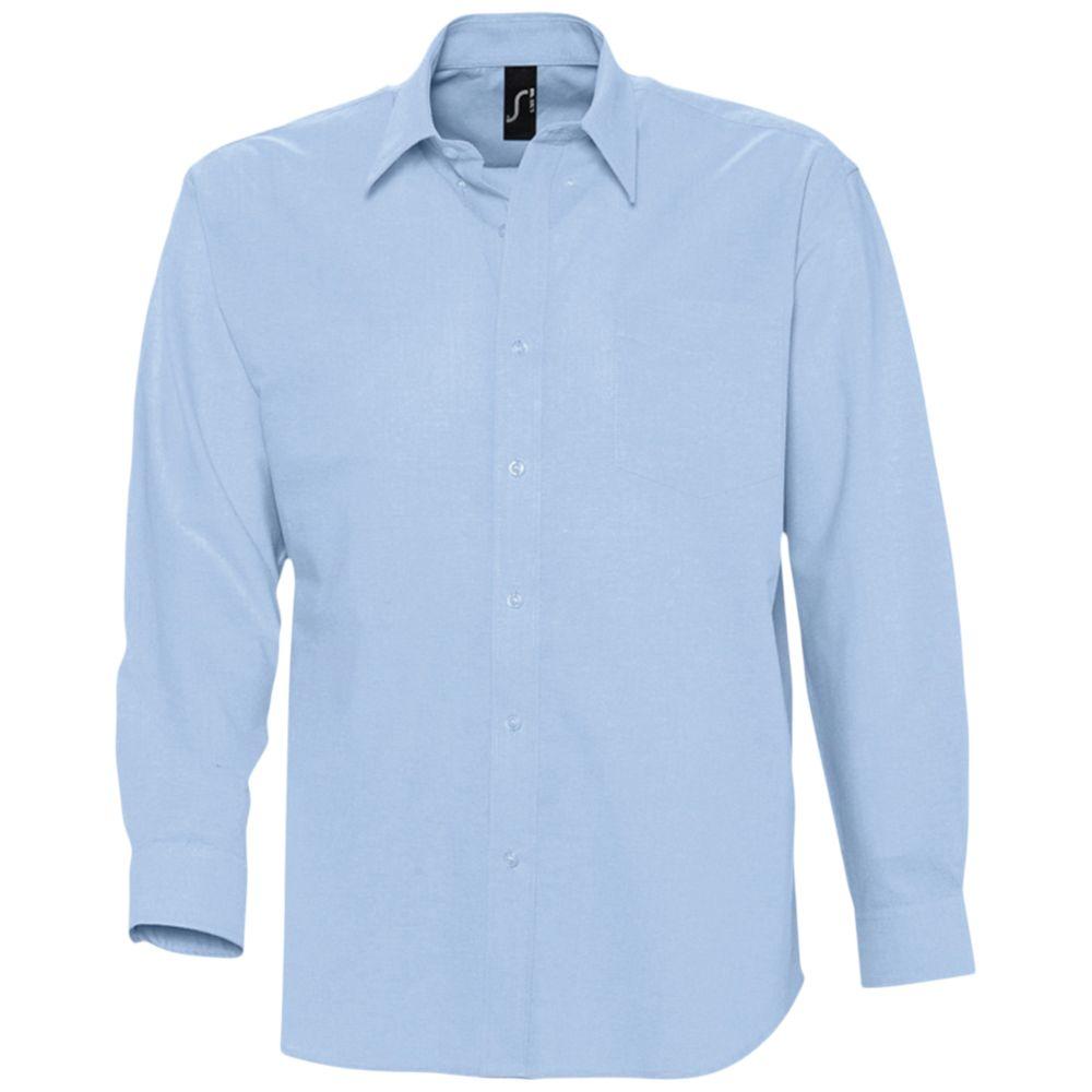 Рубашка мужская с длинным рукавом BOSTON голубая, размер M