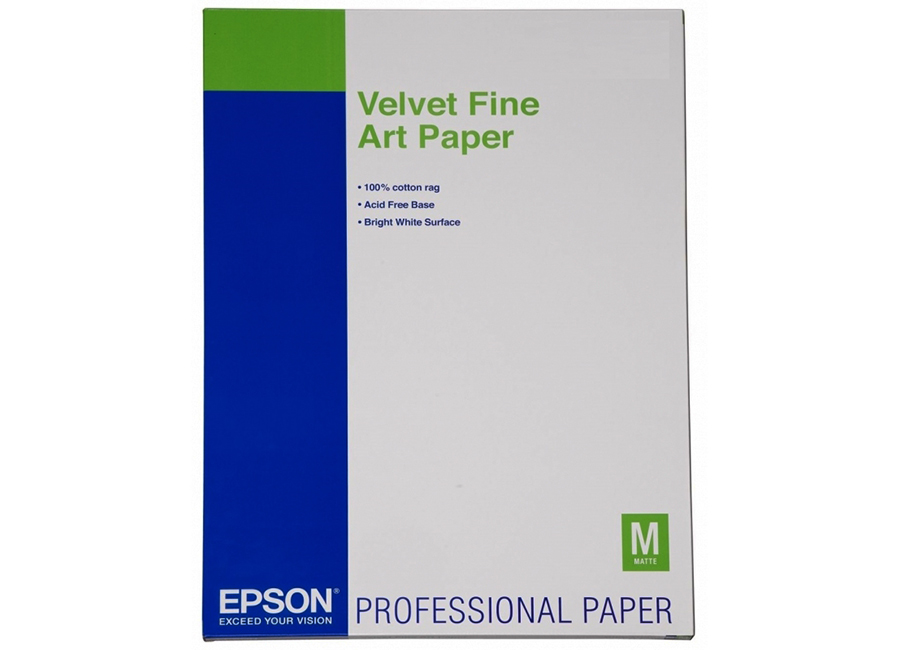 Epson Velvet FineArt Paper, A3+, 260 г/м2, 20 листов (C13S041637)