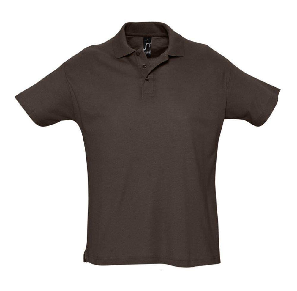цена Рубашка поло мужская SUMMER 170 темно-коричневая (шоколад), размер S онлайн в 2017 году