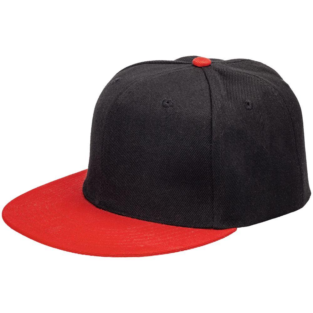 Бейсболка Ben Hope с прямым козырьком, черная с красным бейсболка с прямым козырьком quiksilver smorgasborg vintage indigo