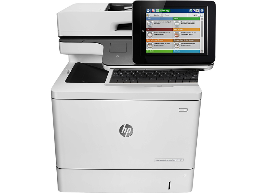 HP LaserJet Enterprise Flow M577c (B5L54A) мфу hp laserjet enterprise color m577c b5l54a цветное а4 38ppm с дуплексом автоподатчиком lan