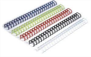 Металлические переплётные элементы (формат А4) 1 пружина - 34 петли. Шаг 3:1, диаметр 11.1 мм, синие металлические переплётные элементы формат а4 1 пружина 34 петли шаг 3 1 диаметр 12 7 мм белые