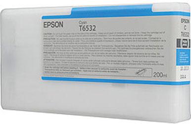 Фото - Epson T6532 Cyan 200 мл (C13T653200) epson t9132 cyan 200 мл c13t913200