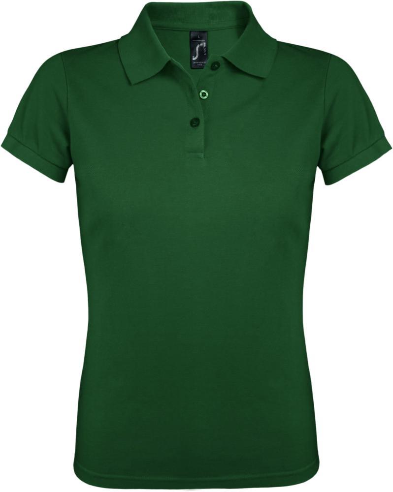 Рубашка поло женская PRIME WOMEN 200 темно-зеленая, размер S фото