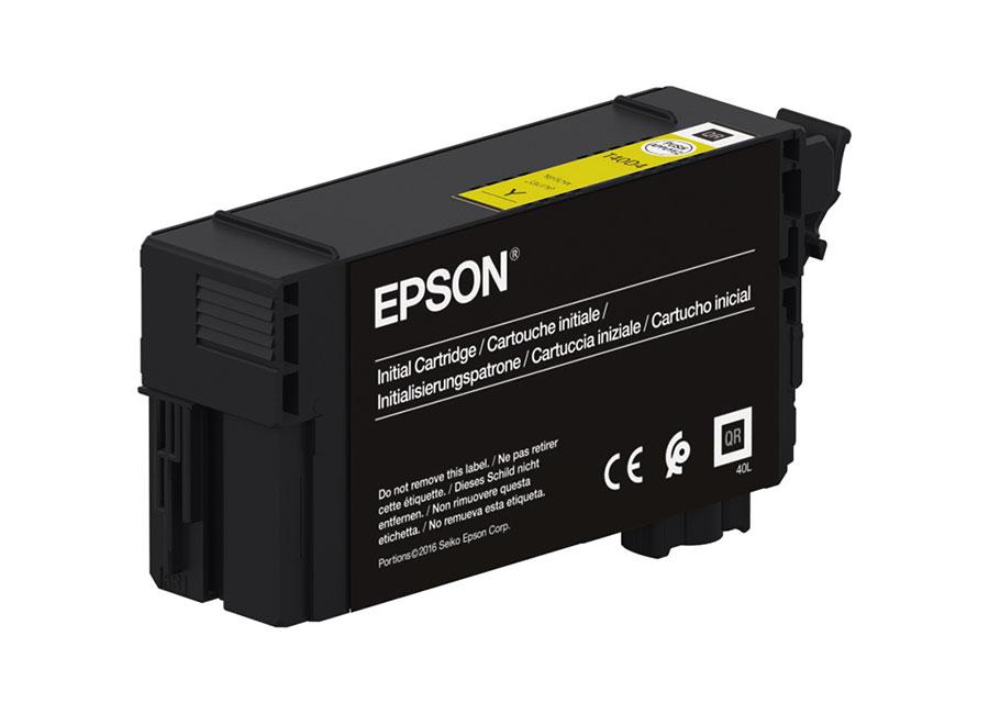 Фото - Epson T40C4 Yellow 26 мл (C13T40C440) набор контейнеров epson t7414 yellow 6x1000 мл c13t773440
