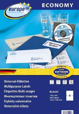 Самоклеящиеся этикетки Europe100 ELA024