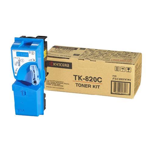 Фото - Тонер-картридж Kyocera TK-820C картридж kyocera tk 8600c