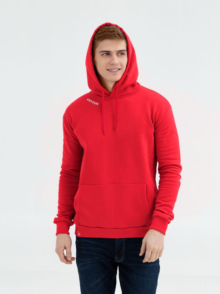 Худи с вышивкой «Амбиции», красное, размер XL