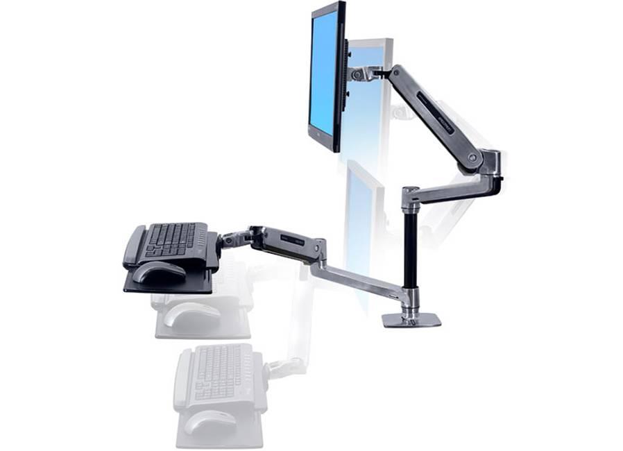 Ergotron WorkFit-LX двойное настольное (45-405-026) Sit-Stand для монитора, клавиатуры/мыши