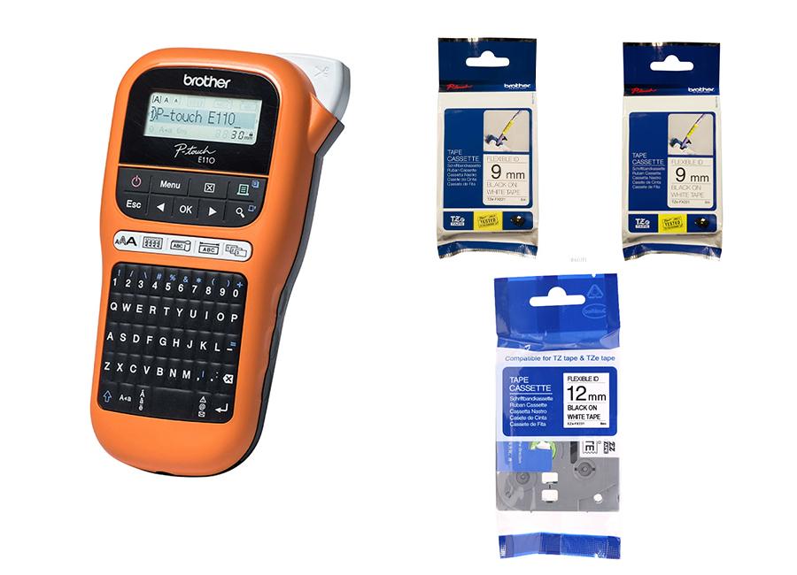 Комплект Brother PTE110VP с лентами 4 х TZE231, TZE631, 2 TZE221