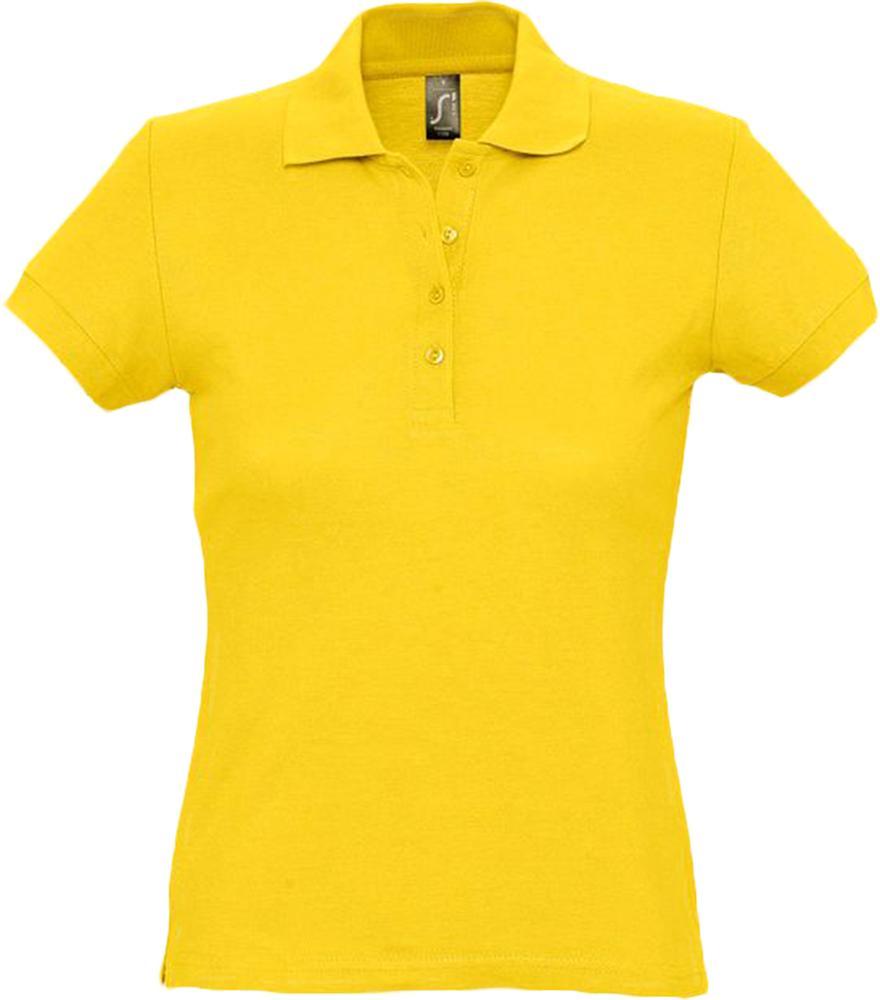 цена Рубашка поло женская PASSION 170 желтая, размер XL онлайн в 2017 году