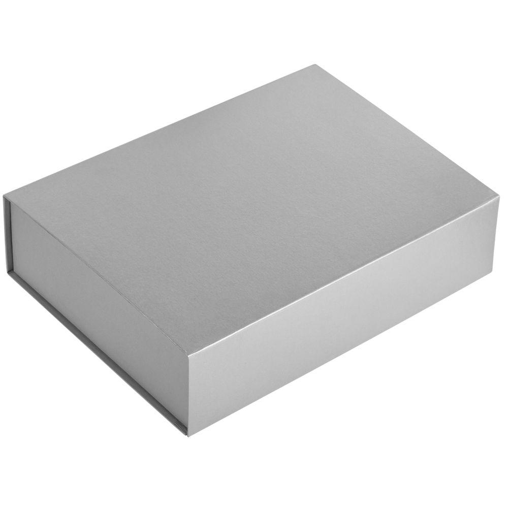 Коробка Koffer, серебристая