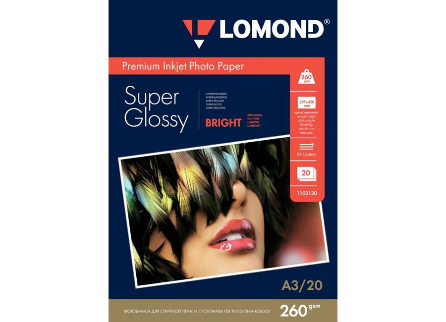 Фото - Lomond для струйной печати, A3, 260 г/м2, 20 листов, односторонняя, суперглянцевая (1103130) printio плакат a3 29 7×42 космос космонавт