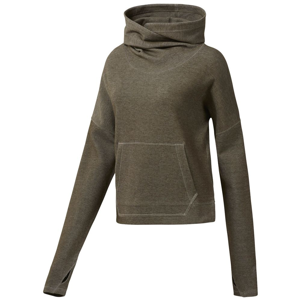 Толстовка женская RC Hoodie, хаки, размер XL толстовка классическая женская insight feed me hoodie smu marle