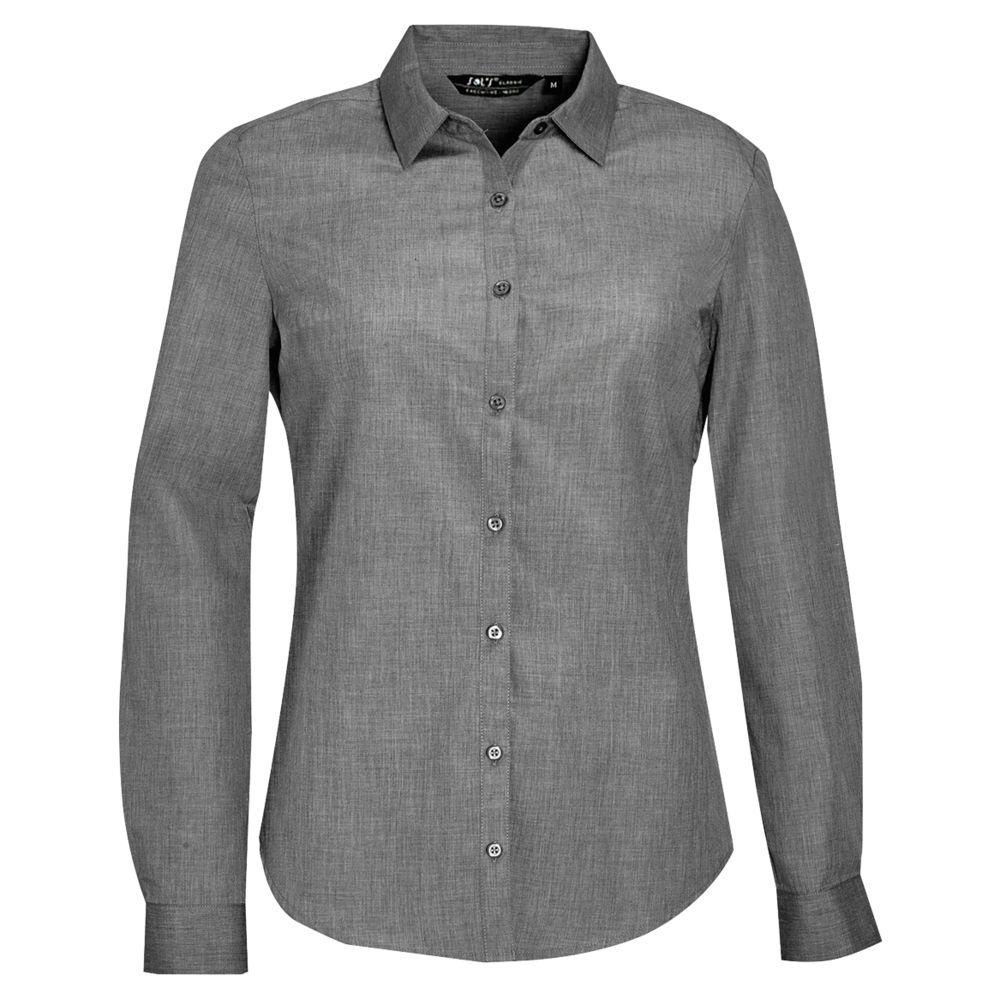 Рубашка BARNET WOMEN серый меланж, размер XXL