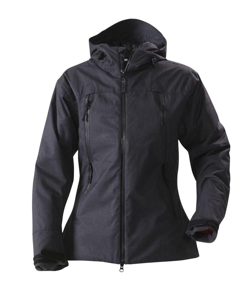 Куртка женская ELIZABETH, черный меланж, размер XL куртка женская elfina цвет черный 88057 100 размер 44