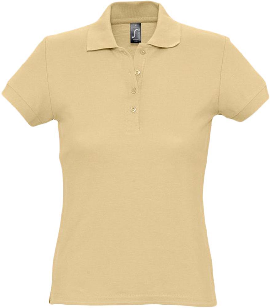 Рубашка поло женская PASSION 170, бежевая, размер XXL фото