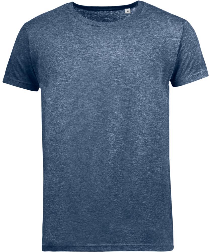 Футболка мужская MIXED MEN темно-синий меланж, размер S