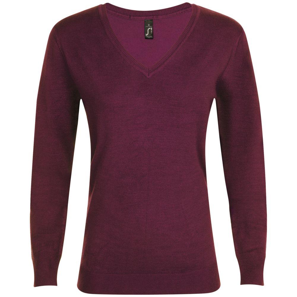 Пуловер женский GLORY WOMEN бордовый, размер L джемпер женский baon цвет бордовый b137564 arum размер l 48