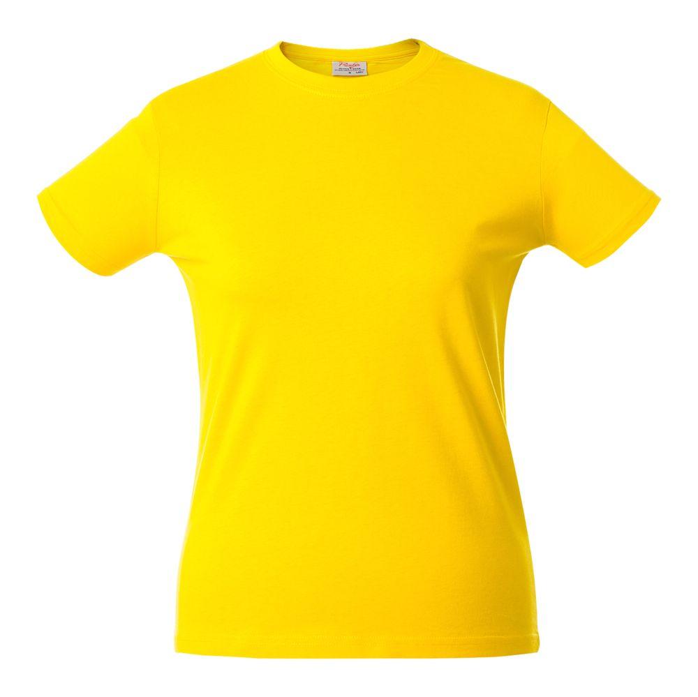 Футболка женская HEAVY LADY желтая, размер L футболка женская oodji ultra цвет ментол 14707001 36 46154 6519p размер l 48