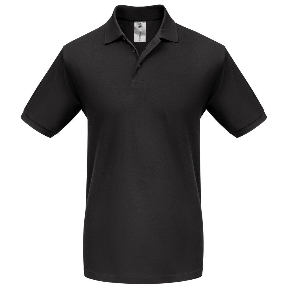 Рубашка поло Heavymill черная, размер XXL фото