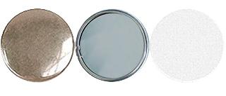 Заготовки для значков Talent d56 мм, зеркало, 100 шт заготовки для значков bulros d56 мм металл булавка 100 шт