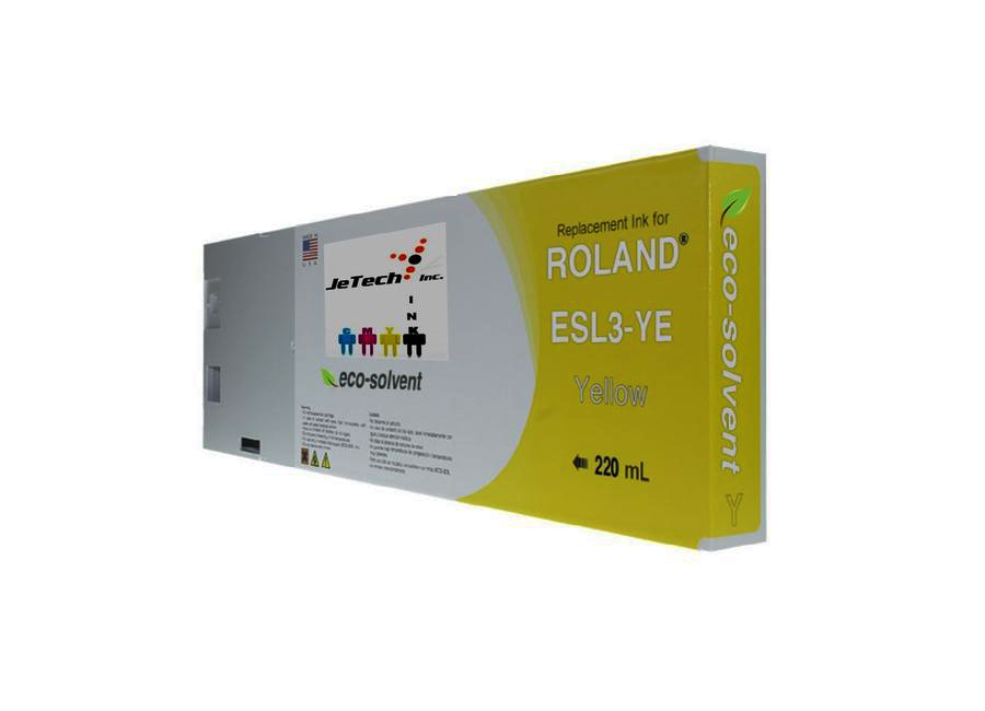 Eco-Solvent Yellow 220 мл (ESL3-YE) good quality 4 with 4 bulk ink supply system ink tank supply system for mimaki roland mutoh eco solvent printer machine