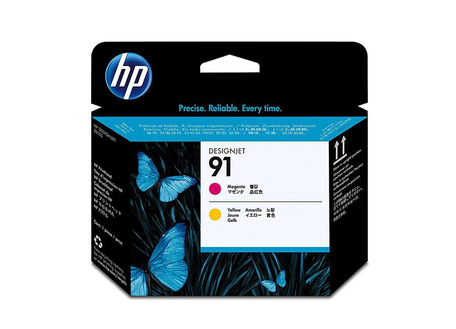 Печатающая головка и 2 картриджа для HP Designjet Z6100, Magenta/Yellow (P2V36A) печатающая головка hp 744 f9j87a для hp designjet z2600 z5600 желтый пурпурный