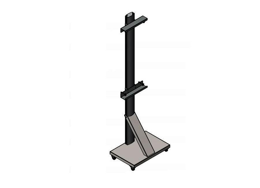Стойка мобильная UMS-1 для интерактивных досок универсальная мобильная стойка ums 4 для интерактивных досок с крепежом для укф проекторов