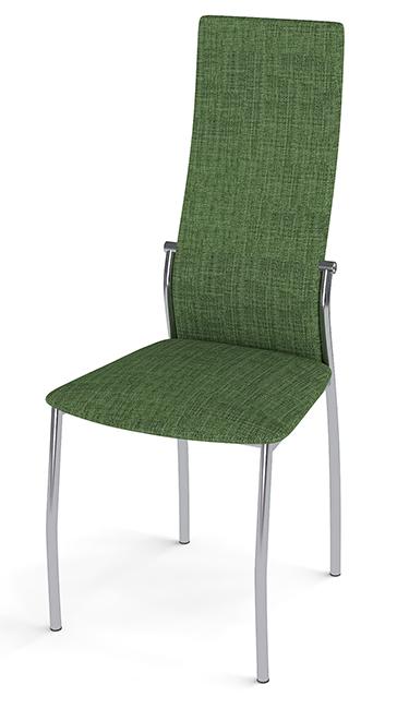 Стул для посетителя Гелеос Персона, зеленый / хром, ткань (2 шт/уп)