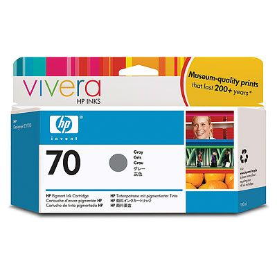 HP Vivera 70 Gray 130 мл (C9450A) картридж hp pigment ink cartridge 70 gray z3100 c9450a