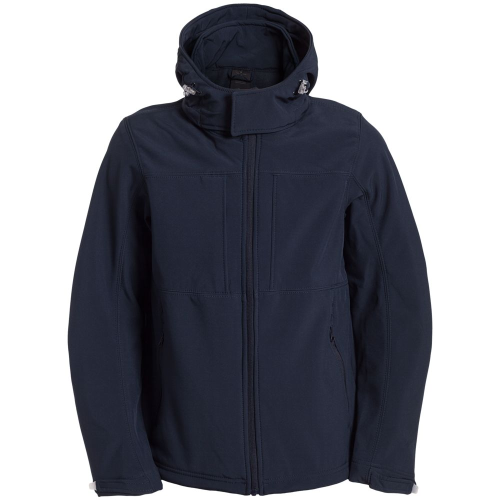 Куртка мужская Hooded Softshell темно-синяя, размер S