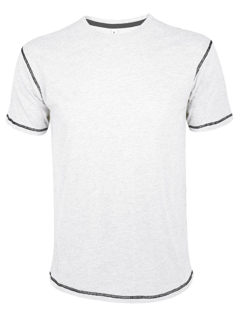 Футболка мужская с контрастной отделкой MUSTANG 150, белый/темно-синий, размер XL футболка mustang 1005438 2020