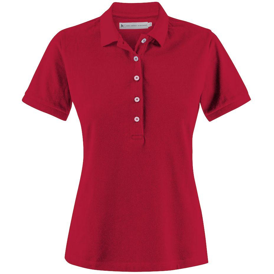 Рубашка поло женская Sunset красная, размер M