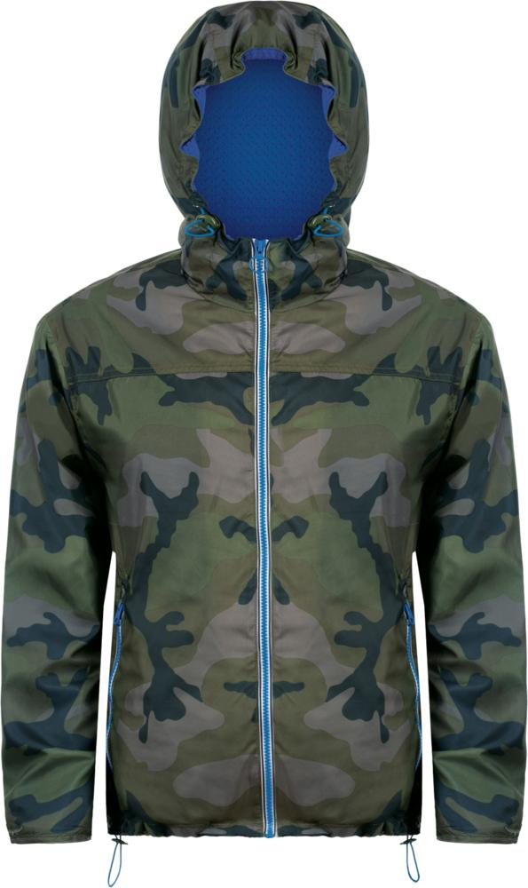 Ветровка SKATE камуфляж с синим, размер L фото