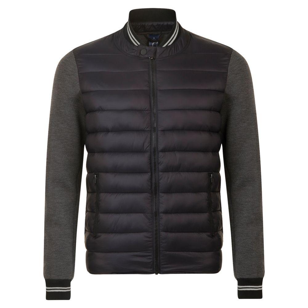 Куртка унисекс VOLCANO черный меланж/черный, размер XL фото