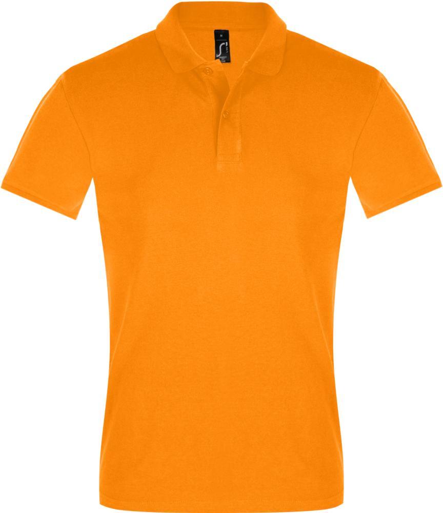 Рубашка поло мужская PERFECT MEN 180 оранжевая, размер M фото